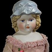 Vintage 1950 Lillian Smith Parian Bisque Doll - Emma Clear School