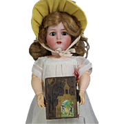 Darling Antique Doll Sized German Notes Book with Pencil - Aide Memoire