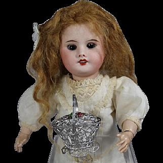 Darling Vintage Doll German Soft Metal Basket