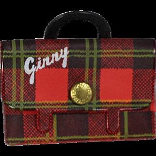 MINT 1950s Vogue Ginny Doll Plaid School Bag Satchel Purse
