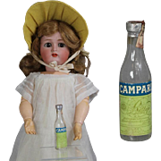 Vintage Mini Doll Sized Glass Liquor Bottle! Salesman Sample