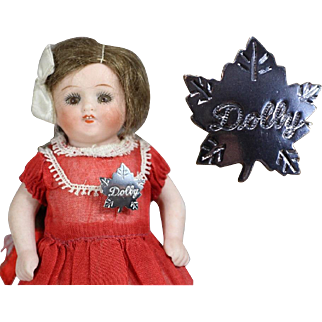 Darling Vintage 1950s DOLLY Pin for your Doll to Wear!