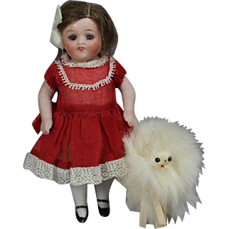 Darling Vintage Doll Size Fur Dog Companion!