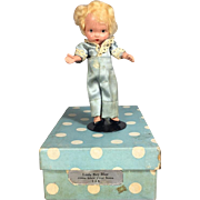 HTF! Nancy Ann Storybook Doll Pudgy Tummy Little Boy Blue in Orig Box!