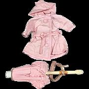 Vintage 1955 Vogue Ginny Doll Raincoat & Umbrella #460 Outfit