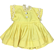 Vintage 1950s Vogue Ginny Doll Tagged Yellow Dress!  Vogue Dolls Inc Tag