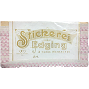 Antique Pink Edging Trim in Orig Package - Beautiful for Doll Sewing!