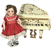 Gorgeous Spielwaren German Doll Piano Music Box - Works, Plays Music!