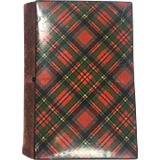 Antique Tartan Ware Sewing Needle Case - Prince Charlie