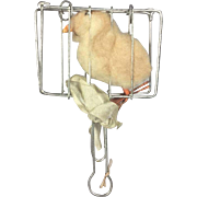 Antique German Toy Doll Fryer with Chicken Inside! Victorian Humor!