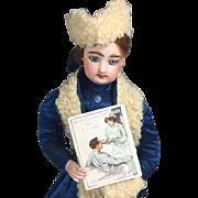 Antique 1914 Mini French Fashion Doll Book Magazine - Nurse Cover!