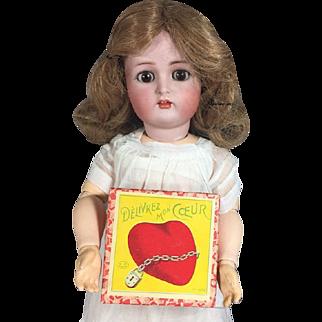 "Antique Mini Doll Sized French Darling Game ""Delivrez Mon Coeur"""