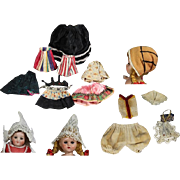 Antique Foreign Ethnic Doll Clothes for Cabinet Sized Dolls