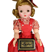Darling Antique Tin Litho Doll Sized CASH Box!