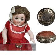 Darling Mini Sterling Silver Compact for All Bisque Doll