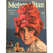 Antique 1918 Metropolitan Magazine - Bathing Beauty Cover!