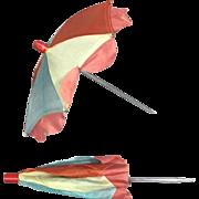Vintage JAPAN Colorful Doll Umbrella !