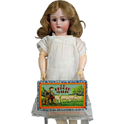 Beautiful Small Antique Doll Sized French Game!