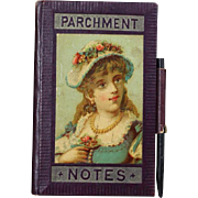 Antique c1890s Clothing Advertising Note Pad Aide Memoire