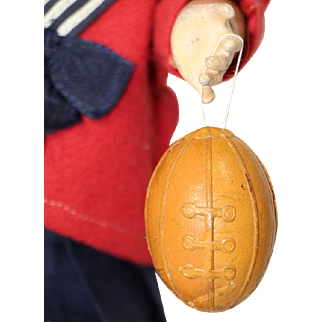 Antique German Dresden Paper Football Candy Container Ornament!