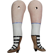 Lovely Antique Legs for All Bisque Doll!