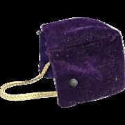 1957 Madame Alexander kins Wendy Orig Purple Velvet Doll Hat Outfit #389