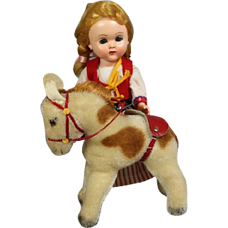 Vintage Steiff Pony Circus Pony Horse - Perfect Doll Size!