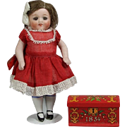 Vintage Mini Pennsylvania Dutch Style Trunk for All Bisque Dolls!