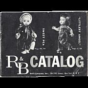 Vintage 1955 R&B Arranbee Doll Original Doll Catalog - Littlest Angel, Sweet Pea