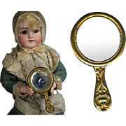 Darling Antique Mini Gold Mirror for Your Antique Doll!