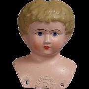 Beautiful Antique Minerva Doll Tin Head - Excellent Condition!