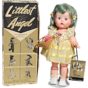 Arranbee Littlest Angel Doll w RARE Blue Hair in Orig Box!  Pictured in Price Guide!
