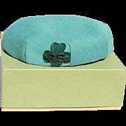 Vintage Original MINT! Girl Scout Hat in Original Box! 1960s
