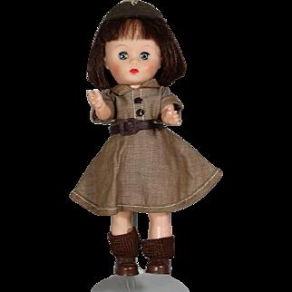 "Vintage Uneeda 8"" Doll Brownie Girl Scout! Ginny Type!"