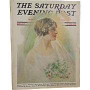 Beautiful! 1926 Saturday Evening Post Bridal Issue - Haskell Coffin