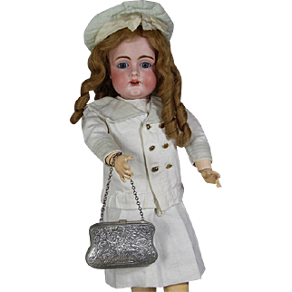 Darling Antique c1910s Metal  Doll or Child's Purse!