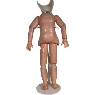 Original BLEUETTE Doll Body!  29cm for Unis 301; 1 1/4 Head! c1940s