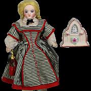 Lovely! Doll Size Dollhouse Clock - Occupied Japan