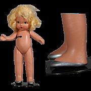1930s Nancy Ann Storybook Doll Pudgy Tummy w Silver Shoes! NASB