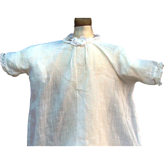 Antique Original Factory Bye-Lo Baby Doll White Christening Dress!