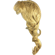 "Vintage 1930s Human Hair Doll Wig Braids - Beautiful!  Fits 9"" Head Circumference"
