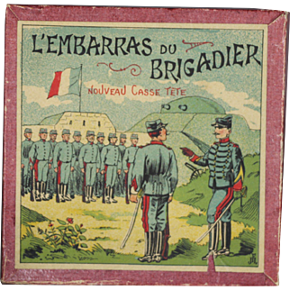 Antique French Military Game - Great Soldier Litho Cover!