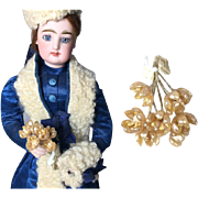 Antique French Fashion Doll Bouquet Wax Flowers!