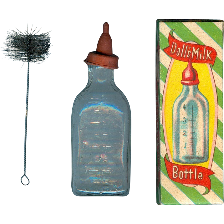 Vintage Glass Baby Bottle 25