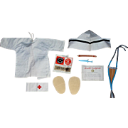 "Darling 1962 Mattel Charmin' Chatty Doll ""Let's Play Nurse"" Complete Outfit!"