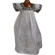 Lovely! Antique Factory Doll Gown with Trim!