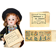 Antique French 1910s WWI Mini Doll Sized Book of Soldier Transfers! - Red Tag Sale Item