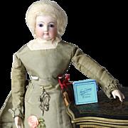 Paris Find! ONE Fancy Antique PARIS Blue Box for French Fashion Doll!