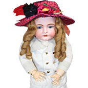Gorgeous! French SFBJ Bebe Doll Hat w Flowers, Feathers!