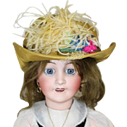 French SFBJ Lovely Vintage Gold Bisque Doll Hat